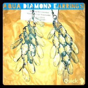 Jewelry - Aqua Diamond Earrings